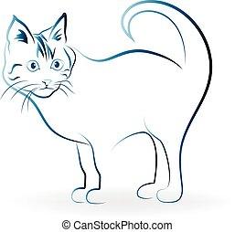 logo, kat, pictogram