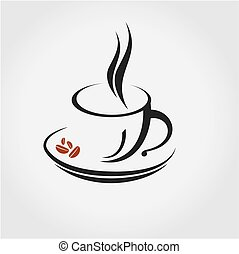 logo, kawa, poznaczcie.