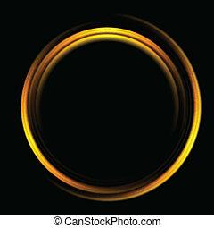 logo, klar, baggrund, cirkel, abstrakt