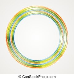logo, klar, cirkel, baggrund