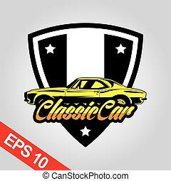 logo, klassieke auto