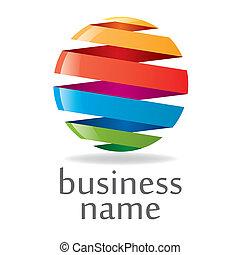 logo, kleurrijke