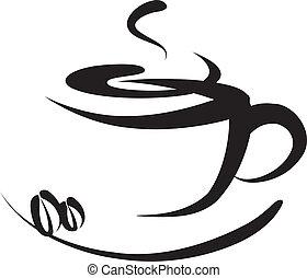 logo, koffie