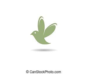 logo, kolibri, schablone
