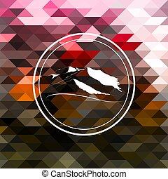 logo, Konstruktion, Bjerge
