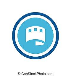 logo, konstruktion, illustration, plyndre, ikon, film, vektor, abstrakt