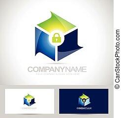 logo, konstruktion, secure