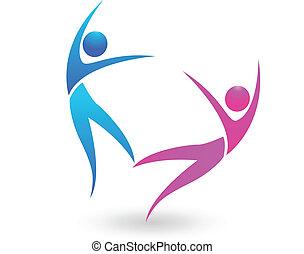 logo, koppla dansande