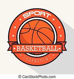 logo, koszykówka, sport