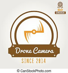 Logo, emblem or logotype for drone and flying camera