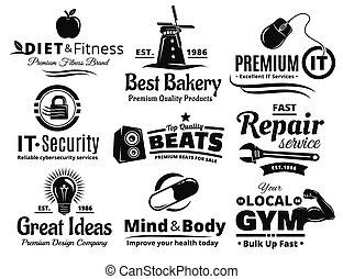 Logo Label Insignia And Icon Set