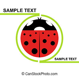 Logo Ladybird - Green profile containing a red and black...