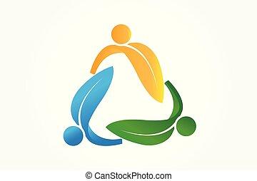 Logo leafs recycle symbol