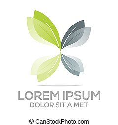 Logo leaves organic natural