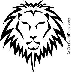 logo, leeuw, hoofd, mal
