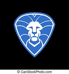 logo, leeuw, schild, abstract