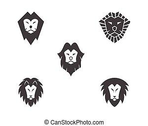 logo, leeuw, vector, mal, pictogram