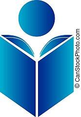 logo, lesende