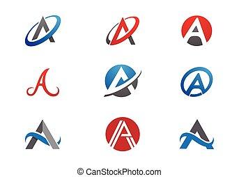 logo, lettre, business, gabarit