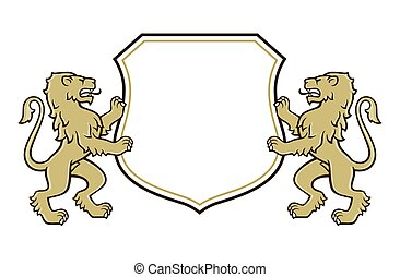 logo, lew, herb, marynarka