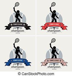 logo, liga, tenis, design.
