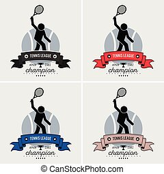 logo, ligue, tennis, design.