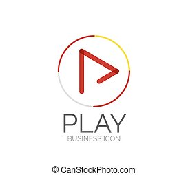 logo, lijn, ontwerp, minimaal