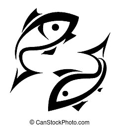 logo-like fish vector symbol