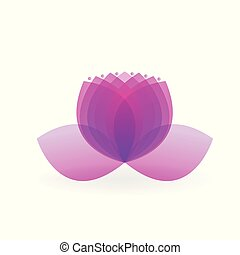 Logo lotus spa purple flower