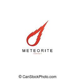 logo, météore, vecteur