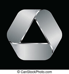 logo, métallique