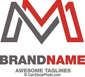 logo, m, brief, creatief