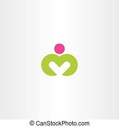 logo m yoga man letter m icon vector symbol
