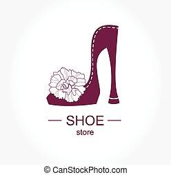 logo, magasin, mode, atelier soulier