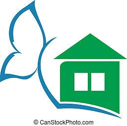 logo, maison