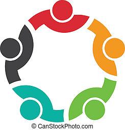 logo, mannschaft, kongress, 5