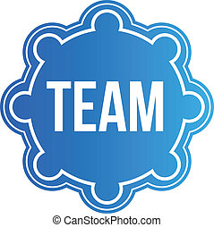 logo, mannschaft, vektor, design, siegel