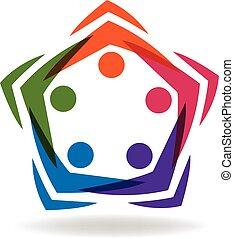 logo, media, mensen, sociaal