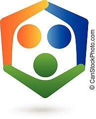 logo, media, sociaal