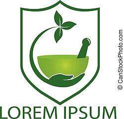 logo, medicinsk, apotek, design.