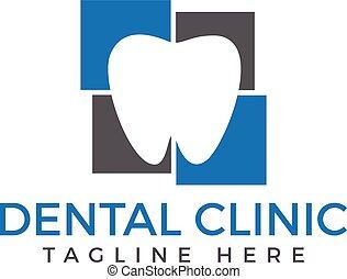 logo, medicinsk, dental, design.