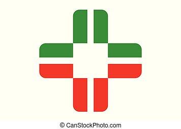 logo, medicinsk, vektor, ikon