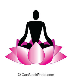 Logo, meditation, yoga, spa - Relaxation, meditation icons