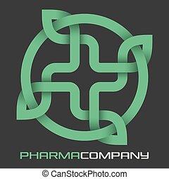 logo, medizin, modern, kreuz