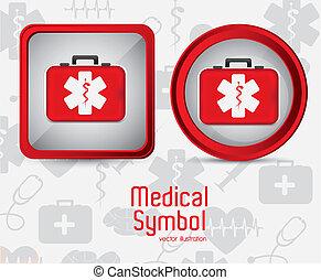 logo, medyczny, wektor