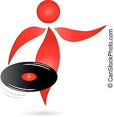 Logo, Mensch, DJ, Person