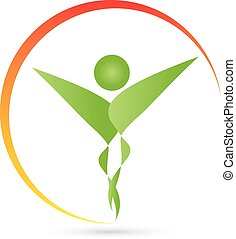 Logo, Mensch, Fitness, Physiotherapie, Heilpraktiker