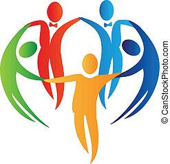 logo, mensen, verscheidenheid