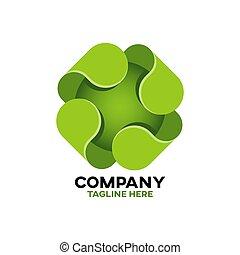 logo, modern, grün, kreuz