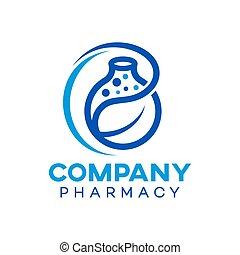 logo, modern, natürlich, apotheke